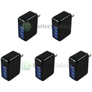 5x Universal Fast 4 Port Wall Charger 3.1amp For Apple Iphone/android Cell Phone