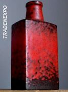 Tall 11''Vintage 60-70's SCHEURICH KERAMIK 281-30 Fat Lava Red Vase W.German Art