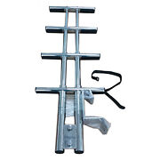 Stainless Steel 4 Steps Sport Dive Ladder Boat Marine Dual Foldable