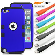 Anti-scratch Combo Protective Case + Certified Chargerandsync Cable Itouch 6th 5th