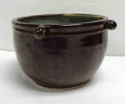 Modernist Studio Pottery Deep Bowl with Four Small Handles!