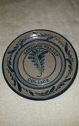 "Lebanon Valley College Salt Glaze  StoneWare Pie Plate Bowl 11 1/4"" Signed 91"