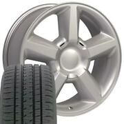 Oew Fits 20x8.5 Wheel Tire Chevy Tahoe Silver Rims W/tires 5308