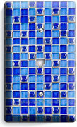Blue Mosaic Arabic Tiles Look Phone Telephone Plate Cover Kitchen New Home Decor