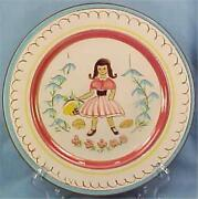 Stangl Kiddieware Mistress Mary Quite Contrary Plate Childs Nursery Rhyme 3951