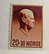 Norway Sc B25 Mh, Very Fine Postage Stamp, 20 + 30 Norge