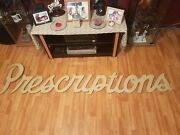 Vintage Antique Pharmacy Prescriptions Wall Sign 1920and039s Rare Best Offers