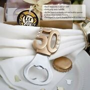 96 Gold 50th Themed Design Bottle Opener Anniversary Birthday Party Favors
