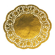 Round Lace Gold Doilies 8-1/2-inch 6-piece