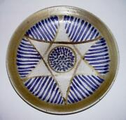 WARD (Dr.) YOURY ~ Vintage MCM Handmade Pottery Low BOWL (Star of David) 1966