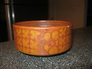 Vintage 80's Harriet Cohen Art Pottery Bowl Abstract Modernist Design Stoneware