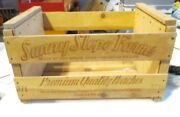Vintage Wooden Sunny Slope Peach Crates 14 X 20 X 11-1/2 With Original Labels