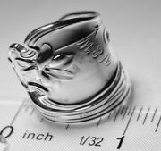 Whiting Violet Antique Sterling Silver Spoon Ring Size 7 Free Shipping