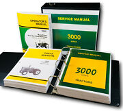 Service Operators Parts Manual Set For John Deere 3020 Tractor Sn Up To 67,999