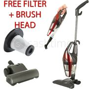 Red 2in1 Hand Held Upright Bagless Vacuum Cleaner Hoover Xtra Filter Brush Head