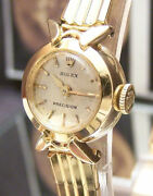 C60and039s Swiss Rolex Solid 18k Gold Watch And Band + Box Vintage Antique 5x Signed