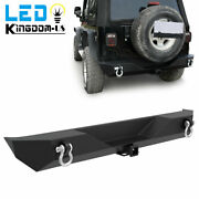 Rock Crawler Rear Bumper W/ 2and039and039 Hitch Receiver For 1987-2006 Jeep Wrangler Yj Tj