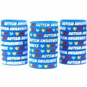 Autism Awareness And Support Wristbands - Puzzle Piece Awareness Bracelets Lot