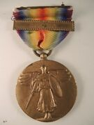 Rare Ww I Victory Medal With Asiatic Bar World War One