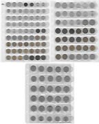 Czechoslovakia Collection Of 135 Coins In 5 Album Pages Nice Lot. O1