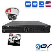 Bv-ip Kit-32ch+4tb Nvr + 16 4mp Outdoor Vandalproof Poe Dome Cameras Security