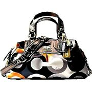 Coach Limited Ed Madison Graphic Op Art Small Sabrina Tote Bag Purse Satchel Wow