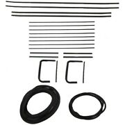 1955 1956 Buick Century And Special 4dr Wagon Glass Weatherstrip Seal Kit