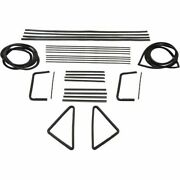 Glass Weatherstrip Kit Compatible With 1955-1957 Chevy Pontiac Sedans