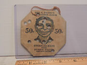 Rare 1920s Coney Island Steeplechase Park String Tag Combination Badge Ticket