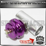 Universal Aluminum Purple 50mm Turbo Blow Off Valve V-band Flange+2.5 Piping