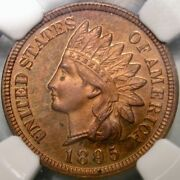 1895 Indian Head Penny Gorgeous Rare Ngc Proof 63 Red Brown Cameo Pcgs/ngc Pop 9