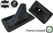 Blue Double Stitch Leather Shift Boot+plastic Frame For Ford Mustang 05-09