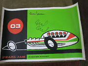Pearl Jam Signed Poster Coa + Proof Eddie Vedder Mike Mccready Ames Autographed