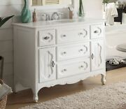 Benton Collection Knoxville White Shabby Chic Bathroom Vanity Gd-1522wt-48 48