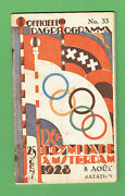 D360. 1928 Amsterdam Olympic Games - Water Polo / Swimming Program