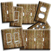 Rustic Wood Tree Of Life Antique Design Light Switch Outlet Plates Bedroom Decor