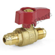 3/8 Flare Brass Gas Shut-off Ball Valve, Natural-ng Or Propane-lp, Csa Approved