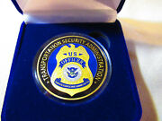 Transportation Security Administration Tsa Challenge Coin W/ Gift Box