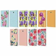 Head Case Watercolour Flowers 2 Leather Book Case And Wallpaper For Samsung Tablet