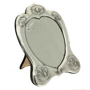 Victorian Silver Heart Shaped Dressing Table Mirror William Comyns London 1896
