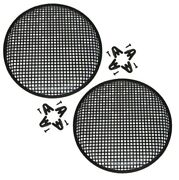 2 10 Inch Universal Speaker Subwoofer Grill Mesh Cover W/ Clips Screws Guard