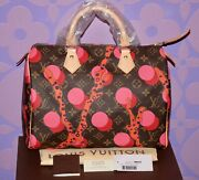 Louis Vuitton Ramages Speedy 30 Monogram Grenade Red Pink Coral Dots Limited Nwt