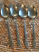 Oneidacraft Deluxe Stainless Nordic Crown Four Place Oval Soup Spoons 4
