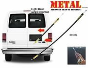 Upgraded For Ford Econoline Van Handle Rear Cargo Door Latch Release Cable 2pcs