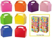 Party Food Box / Table Present Gift Boxes Plus Free Happy Birthday Bags