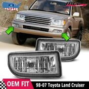 For Toyota Land Cruiser 98-07 Factory Replacement Fog Lights + Kit Clear Lens