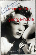 Micheline Presle - Photograph - Signed - Actress - Devil In The Flesh
