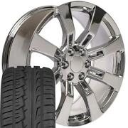 Oew Fits 22x9 Wheels And Tires Chevy Gm Escalade Chrome Rims W/ironman 5409