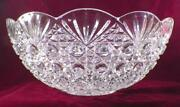 Fostoria Valkyrie Punch Bowl 402 Eapg Strawberry And Fan Variant Glass Huge 1892