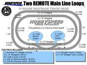 Lionel Fastrack 2 Remote Main Line Loop Track Pack 5'x8' O Gauge Train Layout